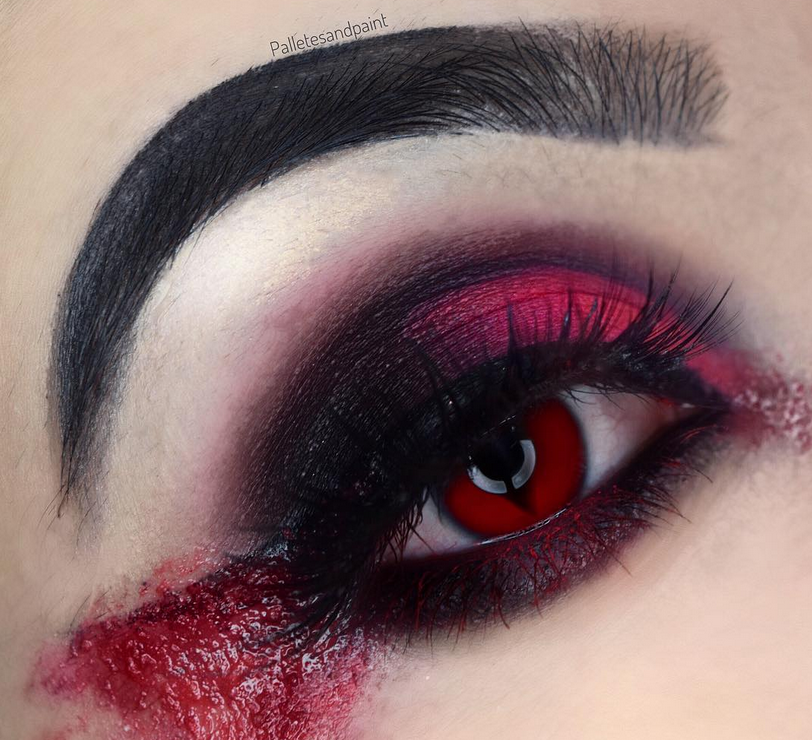 Warning These Gory Halloween Eye Makeup Looks Arent For The Faint - Gore-makeup