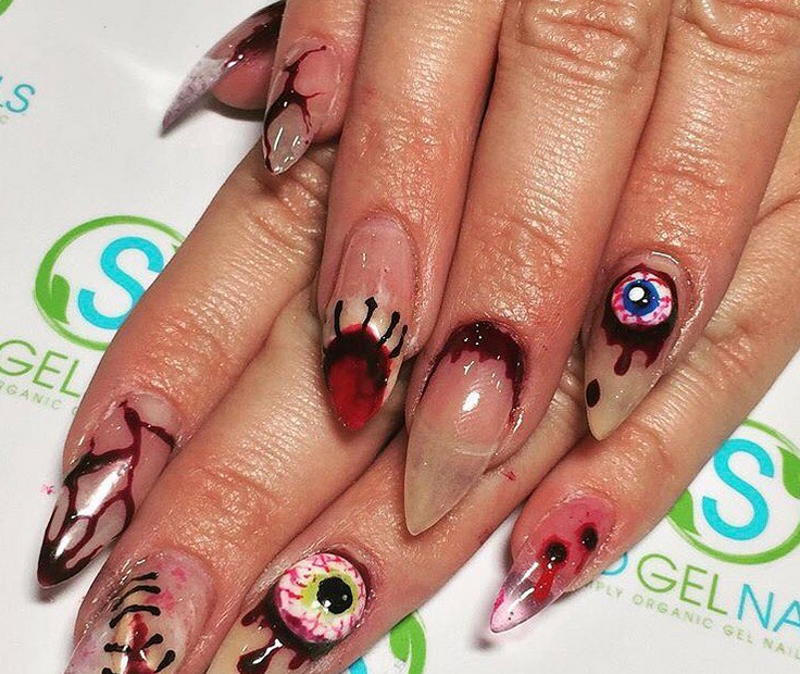 20 Gory Nail Art Ideas That Will Even Make Halloween-Lovers Squirm ...