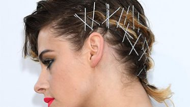 Kristen Stewart's Crazy Bobby Pin Hairstyle Looks Entirely Different From the Back